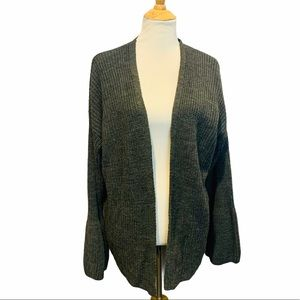 ABSOLUTELY CREATIVE WORLDWIDE Gray Open Cardigan